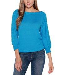 belldini black label 3/4 sleeve boat neck sweater