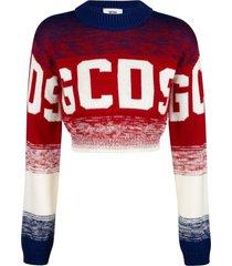 gcds cropped logo sweater