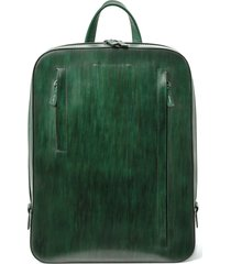 men's magnanni leather sport backpack - green