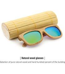 yz occhiali da sole di bambù legno