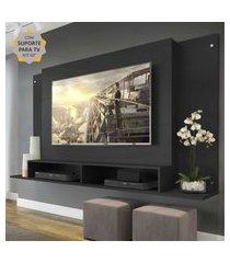 """painel com suporte para tv até 60"""" tókio multimóveis preto"""