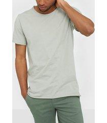bread & boxers m's crew-neck t-shirts & linnen green