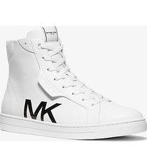 sneaker keating alta in pelle con stampa mk - michael kors