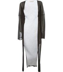 liviana conti long cardigan lurex
