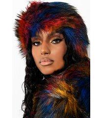 akira hyde park multi color faux fur headband
