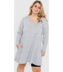 vestido gris minari lanilla
