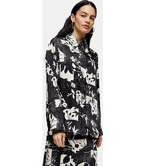 *printed open sleeve shirt by topshop boutique - multi