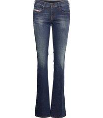 d-ebbey l.34 trousers jeans wijde pijpen blauw diesel women