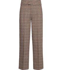 max pants pantalon met rechte pijpen bruin norr