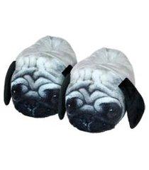 pantufa damannu shoes unisex adulto cachorro pug 3d