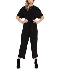 black tape knot-front culotte jumpsuit,