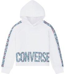 converse suéter de leopardo white