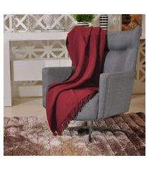 manta capa sofa algodáo favo 1,20m x 1,50m  bordo - tessi