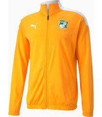 puma ivory coast stadium voetbaljack , oranje/wit/aucun, maat s