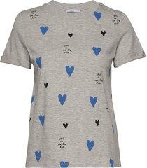 t-shirts t-shirts & tops short-sleeved grå edc by esprit