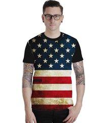 camiseta lucinoze manga curta  129 preta - dourado/preto - masculino - poliã©ster - dafiti