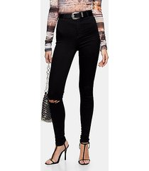 black rip belt loop joni skinny jeans - black