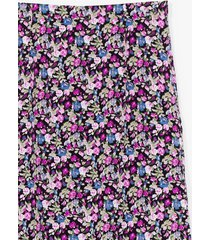womens what bud you do floral midi skirt - purple
