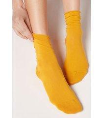 calzedonia non-elastic cotton ankle socks woman yellow size 39-41
