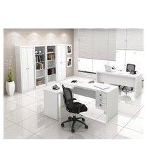 estante aberta para escritório 4 prateleiras me4104 tecno mobili