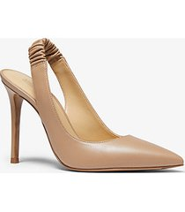 mk décolleté raleigh slingback in pelle - cammello scuro (marrone) - michael kors