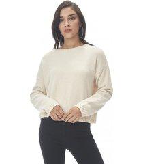 sweater chenille crop ecru corona