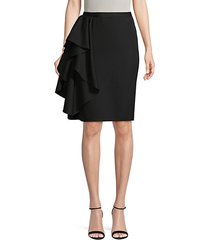 draped wool skirt