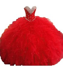 ball gown prom dress red quinceanera dress sweetheart princess cheap 2018