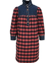 see by chloé see by chloe denim and check dress