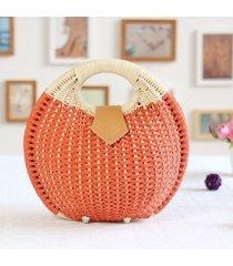 handbag summer beach bags small bag woman straw bags womens handbag rattan bag b