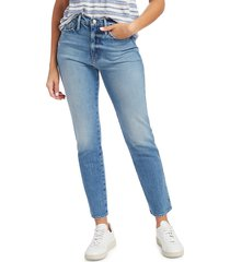 frame women's le sylvie high-rise crop straight jeans - alamitos - size 23 (00)