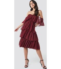 trendyol yol flywheel midi dress - red