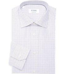 contemporary-fit grid check dress shirt
