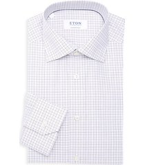 contemporary-fit grid check dress shirt