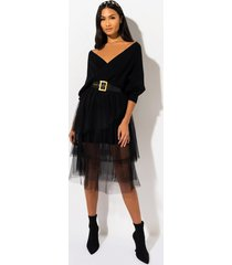 akira party all the time sweater midi dress