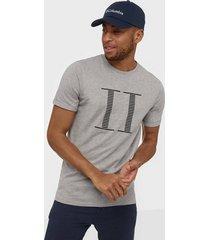 les deux stripe encore t-shirt t-shirts & linnen ljus grå