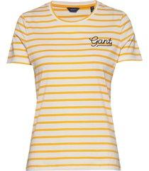d1. breton stripe ss t-shirt t-shirts & tops short-sleeved geel gant