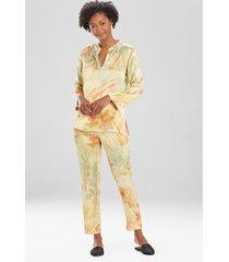sansui silk sleepwear pajamas & loungewear, women's, 100% silk, size l, josie natori