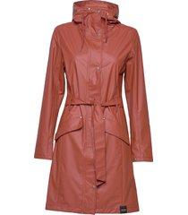indra raincoat trench coat rock orange tretorn