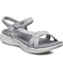 womens on-the-go 600 shoes summer shoes flat sandals silver skechers