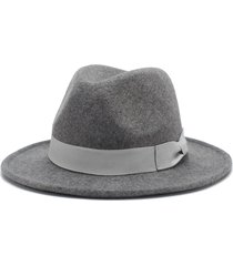 roseluosi fashion unisex fedora hats 2017 autumn winter wool panama hat for wome
