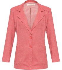 blazer feminino linho - laranja