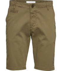 chuck regular chino shorts - gots/v shorts chinos shorts grön knowledge cotton apparel