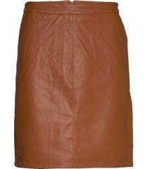 sl tamara pu skirt kort kjol brun soaked in luxury