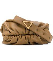 bottega veneta ruched-detail shoulder bag - yellow