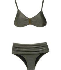 lygia & nanny anne high rise bikini set - green