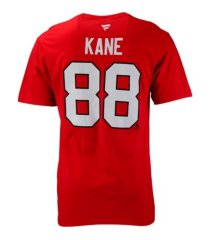 authentic apparel chicago blackhawks men's authentic stack name & number t-shirt patrick kane