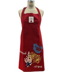 mod lifestyles solid print tie-back big front pocket apron