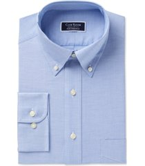 club room men's classic/regular fit performance easy-care oxford solid dress shirt, created for macy's