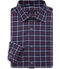 collection multicolor boucle check dress shirt